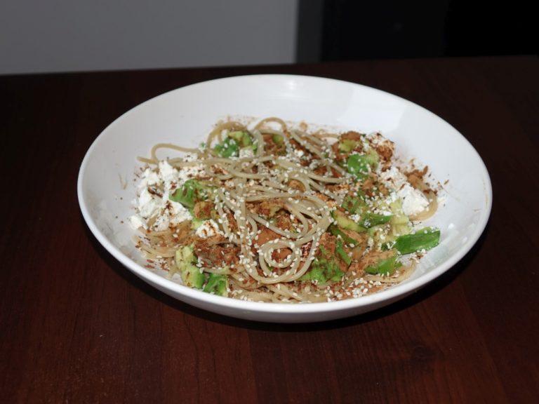 Spaghetti avocado