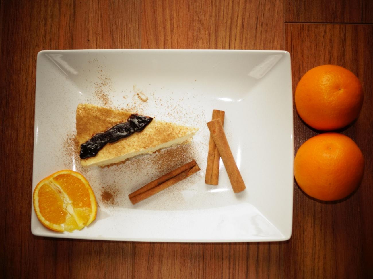 Pomarańczowy fit sernik na zimno